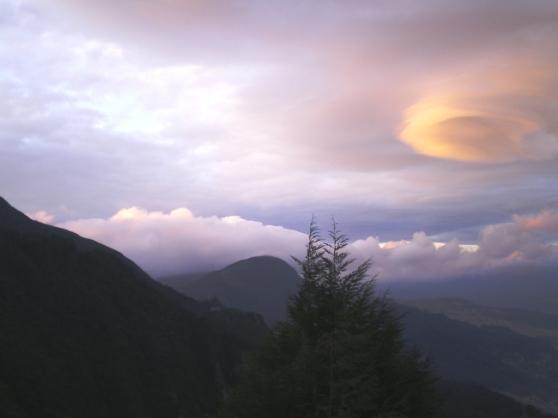 Amanecer en el cerro de Guadalupe