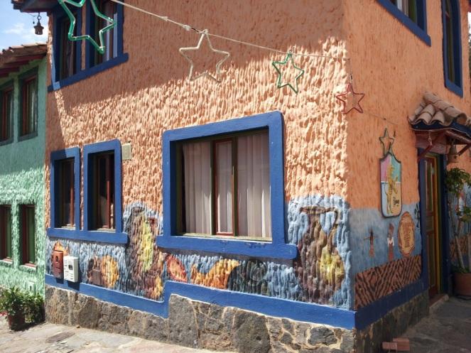 Casas tradicionales en el Pueblito Boyacense - Duitama - Boyacá. Foto: David Medina