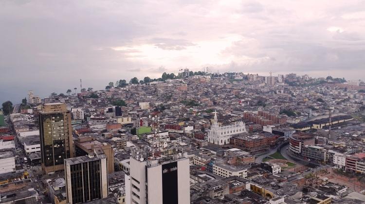 Panoramica de Manizales desde la Catedral Basílica Metropolitana Nuestra Señora del Rosario de Manizales. Foto: David Medina