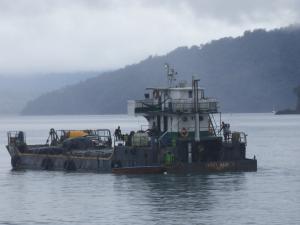 Embarcaciones en Bahía Solano. Foto: David Medina
