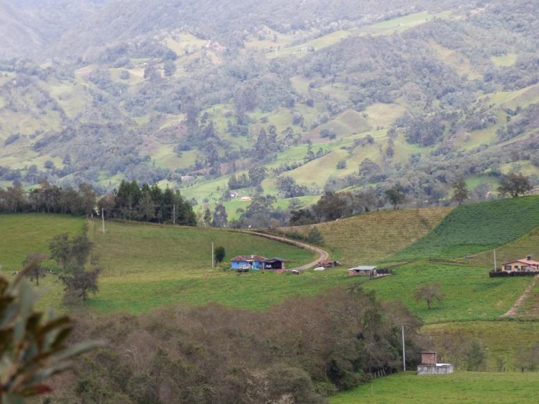 Cultivos y casas de campo en Guatavita
