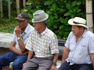Gente en Pijao - Quindío. Foto: David Medina