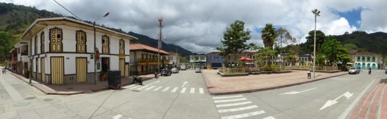 Parque central en Pijao - Quindío. Foto: David Medina