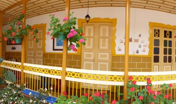 Casa tradicional en Pijao - Quindío. Foto: David Medina