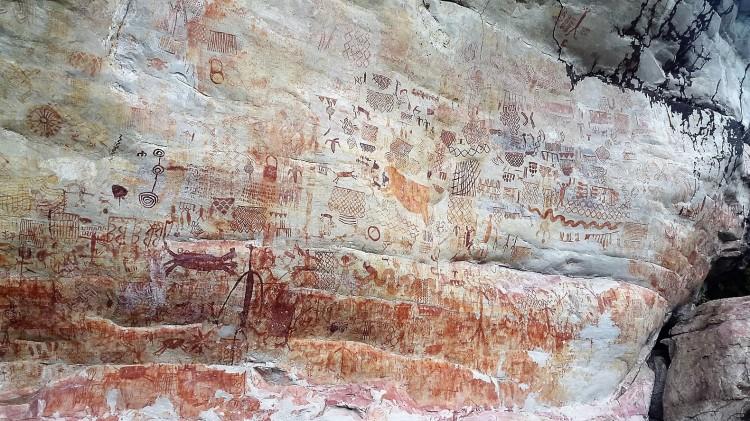Pinturas rupestres de nuevo Tolima - Guaviare. Foto: David Medina